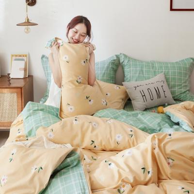2019新款-13372全棉精梳YB亚博在线娱乐系列 床单款三件套1.2m(4英尺)床 雏菊黄