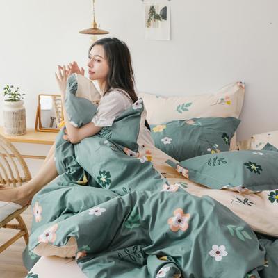 2019新款-13372全棉精梳四件套系列 床单款三件套1.2m(4英尺)床 仙本花