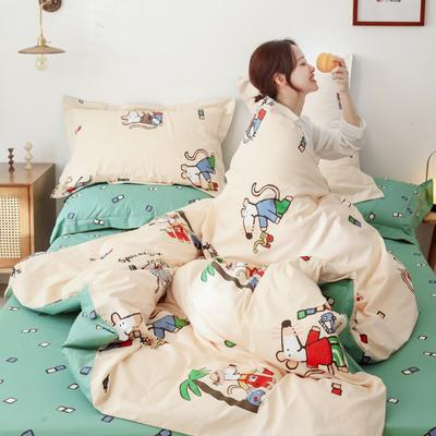 2019新款-13372全棉精梳四件套系列 床单款三件套1.2m(4英尺)床 小斑鼠