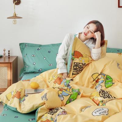 2019新款-13372全棉精梳四件套系列 床单款三件套1.2m(4英尺)床 辛普森