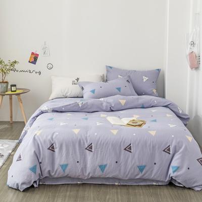 2019新款-全棉纱布四件套 床单款三件套1.2m(4英尺)床 纱布-灰色地带