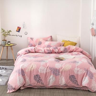 2019新款-全棉纱布四件套 床单款三件套1.2m(4英尺)床 纱布-莱茵庄园