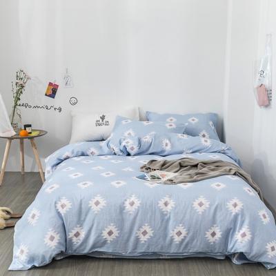 2019新款-全棉纱布四件套 床单款三件套1.2m(4英尺)床 纱布-罗马情怀