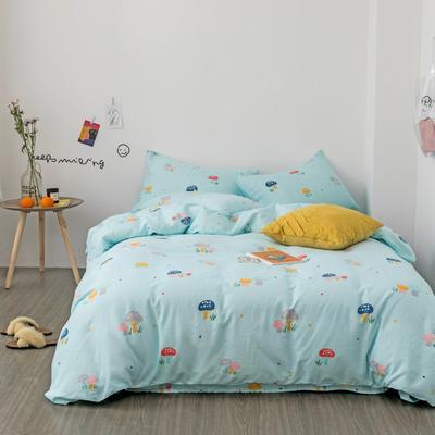 2019新款-全棉纱布四件套 床单款三件套1.2m(4英尺)床 纱布-魔力菇