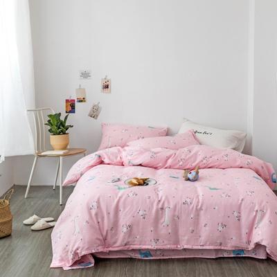 2019新款-全棉纱布四件套 床单款三件套1.2m(4英尺)床 纱布-小意思