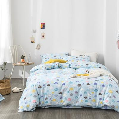 2019新款-全棉纱布四件套 床单款三件套1.2m(4英尺)床 纱布-云朵