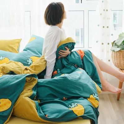 2019新款-棉加绒四件套 床单款三件套1.2m(4英尺)床 缤纷草莓