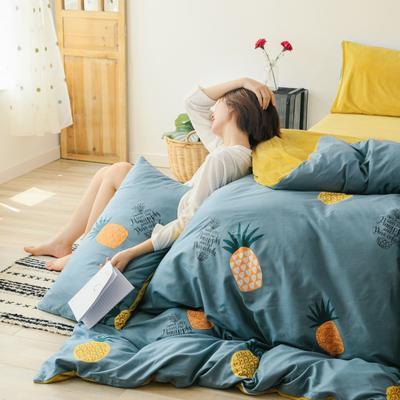 2019新款-棉加绒四件套 床单款三件套1.2m(4英尺)床 菠萝
