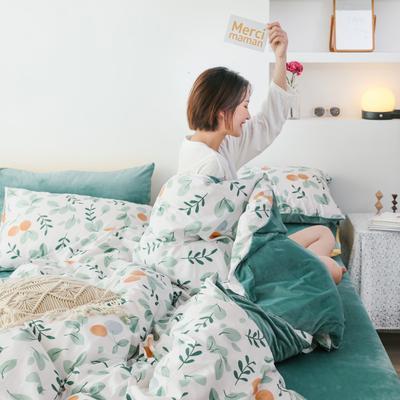 2019新款-棉加绒四件套 床单款三件套1.2m(4英尺)床 晴语