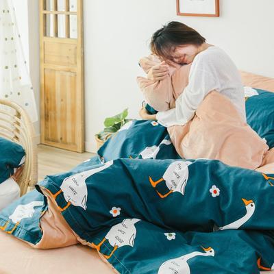 2019新款-棉加绒四件套 床单款三件套1.2m(4英尺)床 晚安鸭