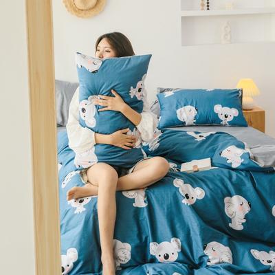 2019新款-棉加绒四件套 床单款三件套1.2m(4英尺)床 迷你考拉