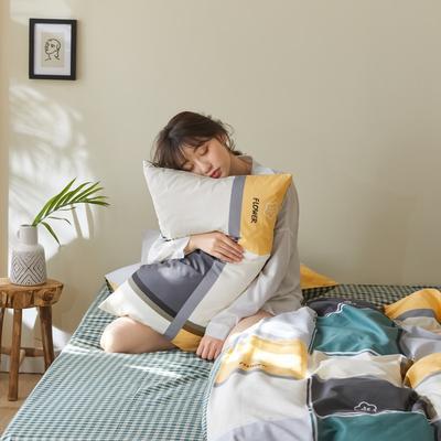 2020新款-简约格调系列四件套 床单款三件套1.2m(4英尺)床 艾夫尼黄