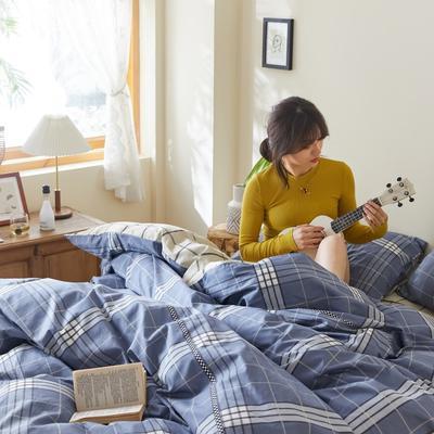 2020新款-簡約格調系列四件套 床單款三件套1.2m(4英尺)床 摩納哥藍
