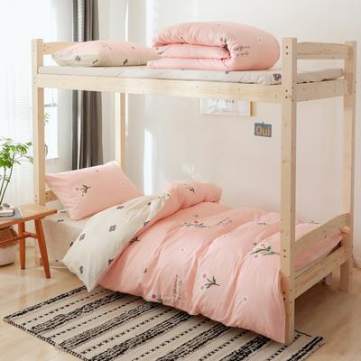 2020新款-小清新单人三件套 床单款1.2m(4英尺)床 粉色夏沫