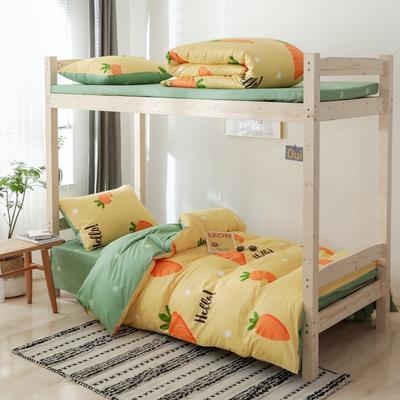 2020新款-小清新單人三件套 床單款1.2m(4英尺)床 胖蘿卜
