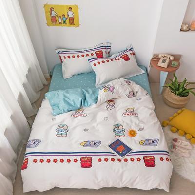 2020新款-全棉小可爱系列四件套 床单款三件套1.2m(4英尺)床 富山公园