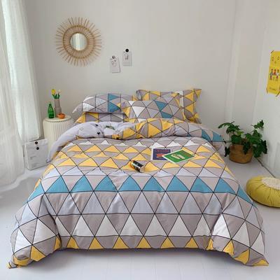 2020新款-全棉实拍图四件套 床单款三件套1.2m(4英尺)床 艾维