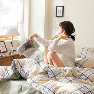 2020新款-簡約格調系列四件套 床單款三件套1.2m(4英尺)床 金色維也納