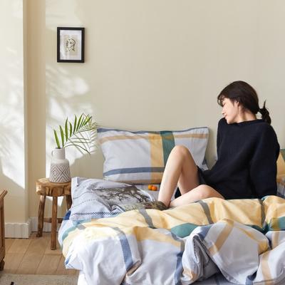 2020新款-簡約格調系列四件套 床單款三件套1.2m(4英尺)床 漫步時尚黃