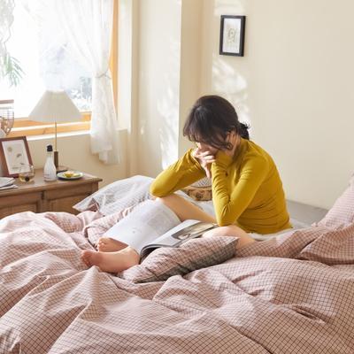 2020新款-簡約格調系列四件套 床單款三件套1.2m(4英尺)床 小方格