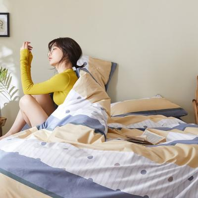 2020新款-簡約格調系列四件套 床單款三件套1.2m(4英尺)床 旭日東升黃