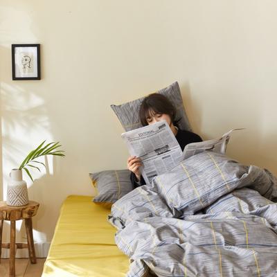 2020新款-簡約格調系列四件套 床單款三件套1.2m(4英尺)床 緣夢巴黎