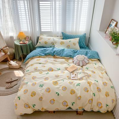 2020新款-网红小清新四件套四季款 床单款四件套1.5m(5英尺)床 半夏黄