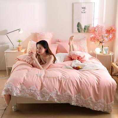 2020新款水洗棉四件套床单被套床上用品【浪漫公主】 1.5床单款四件套 【浪漫公主】粉玉色