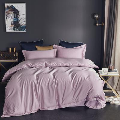2019新款-60长绒棉四件套(60纯色系列) 1.8m(6英尺)床 纯色 粉色