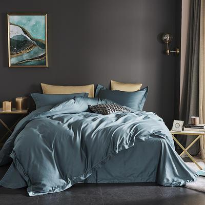 2019新款-60长绒棉四件套(60纯色系列) 1.8m(6英尺)床 纯色 绿色