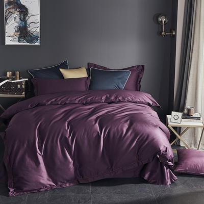2019新款-60长绒棉四件套(60纯色系列) 1.8m(6英尺)床 纯色 紫色