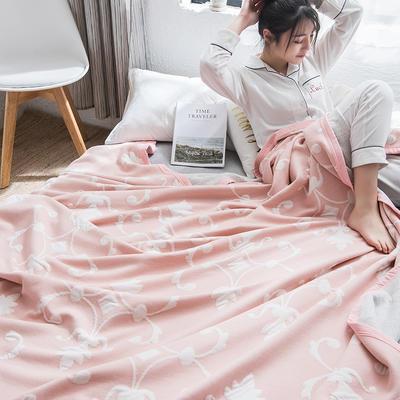 2019新款-天竺棉夏被 150x200cm 花漾(粉)
