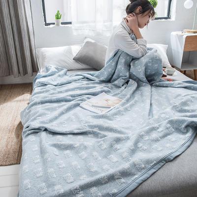 2019新款-天竺棉夏被 150x200cm 可爱猫(蓝)