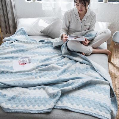 2019新款-天竺棉夏被 150x200cm 菱歌(蓝)
