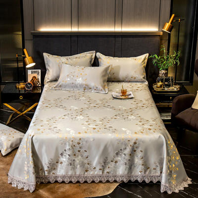 2020花边床单款600D提花冰丝凉席 1.2m(4英尺)床 金枝玉叶