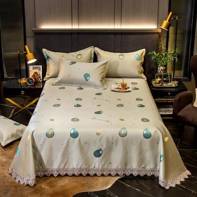 2020花边床单款600D提花冰丝凉席 1.2m(4英尺)床 牛油果