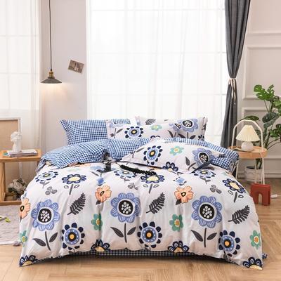 2020新款-13372全棉印花四件套 0.9床单款三件套 太阳花