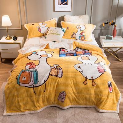 2020新品-卡通大版盖毯 1.5*2.0 可爱鸭