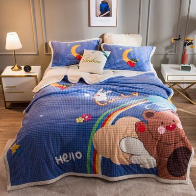 2020新品-卡通大版盖毯 1.5*2.0 小熊先生