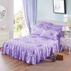 双层裙边夹棉单床裙(单品) 1.2*2.0 床 玫瑰爱人