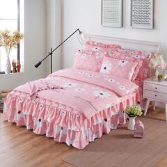 韩版夹棉床裙四件套 1.2*2.0 床 纯真花语
