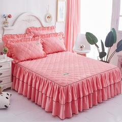 夹棉纯色床裙(单品) 150cmx200cm 玉色