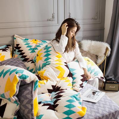 2019新款-高克重牛奶臻棉绒四件套风格2 床单款1.8m(6英尺)床 米亚