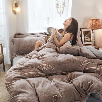 2019新款-高克重牛奶臻棉絨四件套風格2 床單款1.5m(5英尺)床 辛格