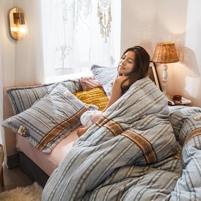 2019新款-高克重牛奶臻棉絨四件套風格2 床單款1.5m(5英尺)床 元素