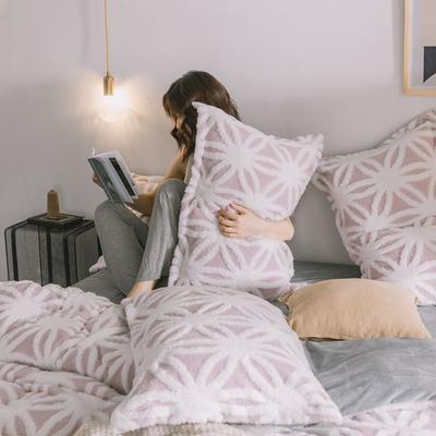 2020新款-舒棉絨枕套 48cmX74cm/個 紫菱花枕套