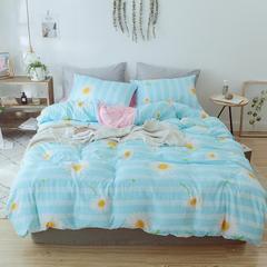 2018新款水洗棉活性印花系列四件套 1.2m(4英尺)床 小雏菊