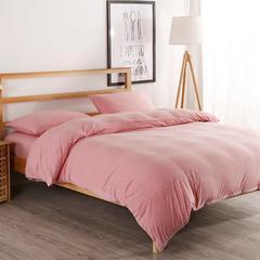 2018新款-针织四件套 1.2m(4英尺)床 粉色BB纯色