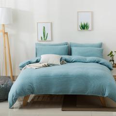 2018新款-针织四件套 1.2m(4英尺)床 绿白细条