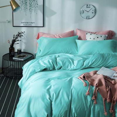 2018新款60支长绒棉纯色四件套 1.8m(6英尺)床 翡翠绿